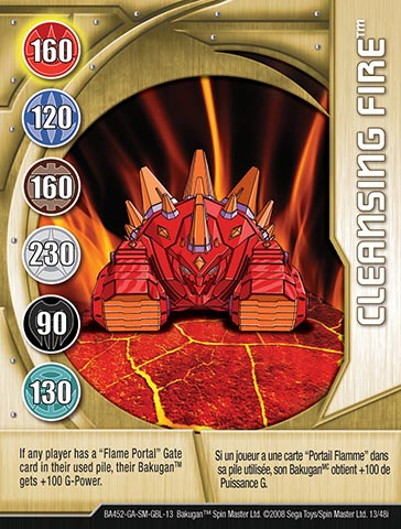 Cleansing Fire 13 48i Bakugan 1 48i Card Set