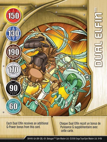 Dual Elfin 9 48i Bakugan 1 48i Card Set