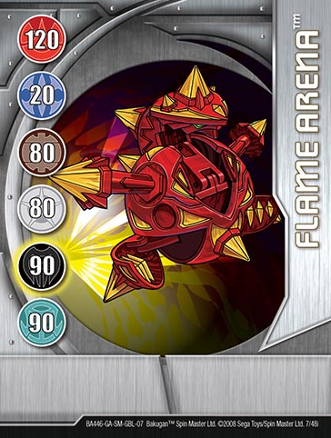 Flame Arena 7 48i Bakugan 1 48i Card Set