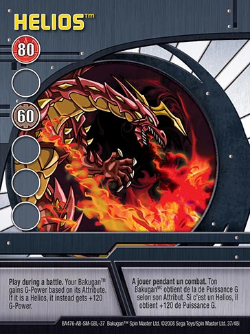 Helios 37 48i Bakugan 1 48i Card Set