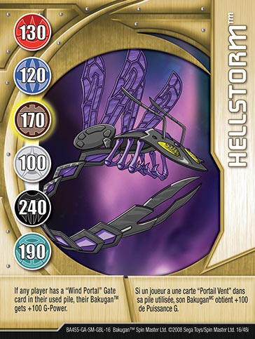 Hellstorm 16 48i Bakugan 1 48i Card Set