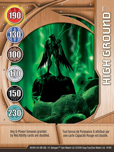 High Ground 19 48i Bakugan 1 48i Card Set