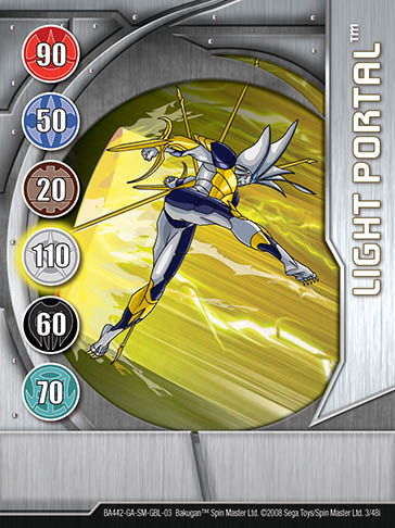 Light Portal 3 48i Bakugan 1 48i Card Set