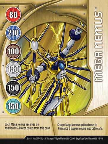 Mega Nemus 12 48i Bakugan 1 48i Card Set