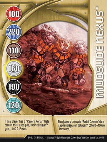 Mudslide Nexus 14 48i Bakugan 1 48i Card Set