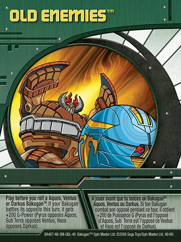 Old Enemies 48 48i Bakugan 1 48i Card Set
