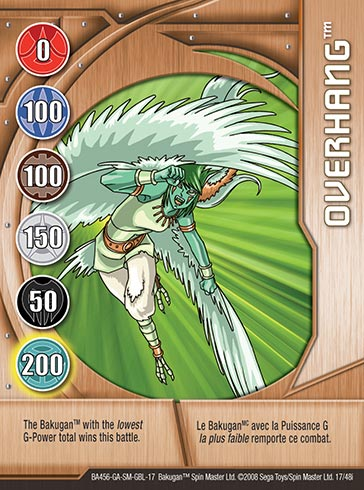 Overhang 17 48i Bakugan 1 48i Card Set