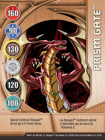 Prism Gate 22 48i Bakugan 1 48i Card Set