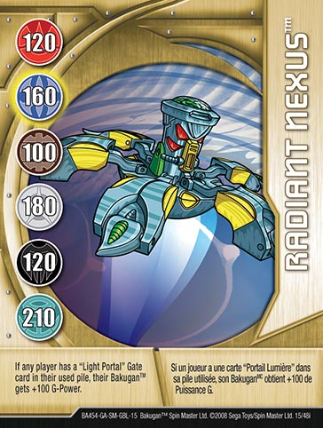 Radiant Nexus 15 48i Bakugan 1 48i Card Set
