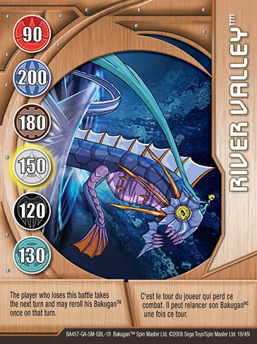 River Valley 18 48i Bakugan 1 48i Card Set