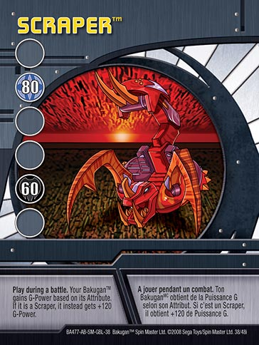 Scraper 38 48i Bakugan 1 48i Card Set