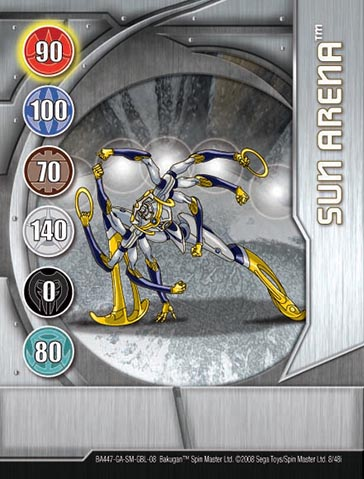 Sun Arena 8 48i Bakugan 1 48i Card Set