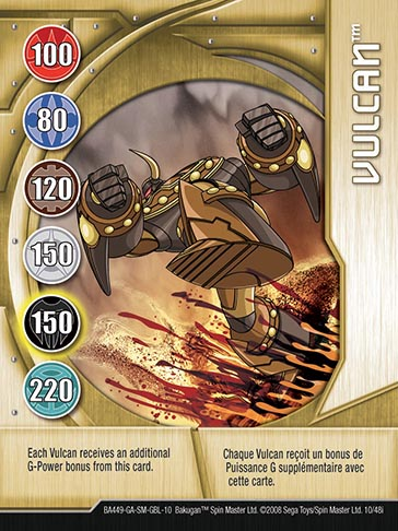 Vulcan 10 48i Bakugan 1 48i Card Set