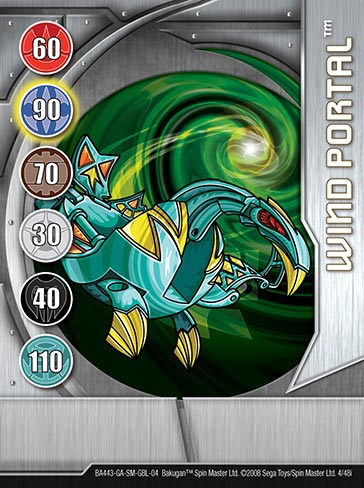 Wind Portal 4 48i Bakugan 1 48i Card Set