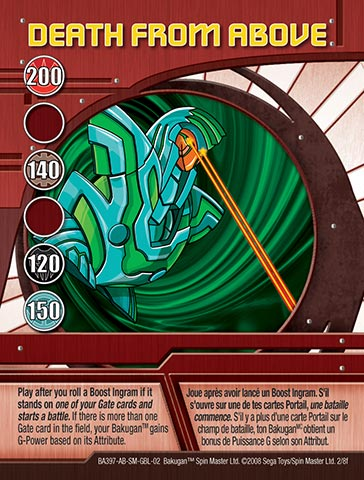 Death From Above 2 8f Bakugan 1 8f Card Set