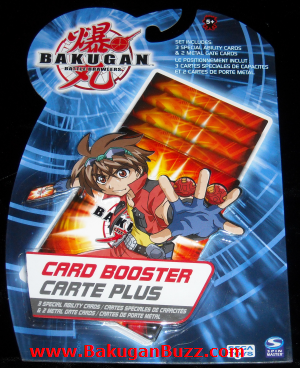 Bakugan Card Booster Pack Bakugan Cards