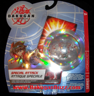Hydranoid clear pyrus Bakugan Special Attack Booster Packs