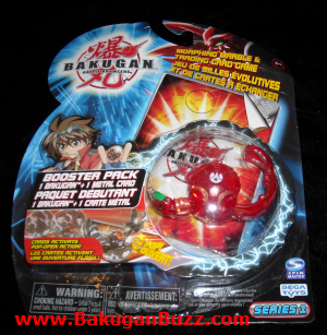 Original Bakugan Centipoid  translucent pyrus Bakugan Booster Packs