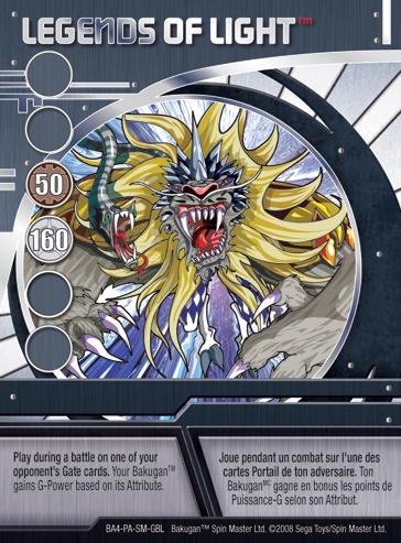 BA4 LegendsofLight Bakugan Promo Card Set