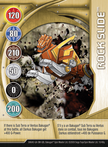 10q Rock Slide Bakugan 1 48q Card Set 2
