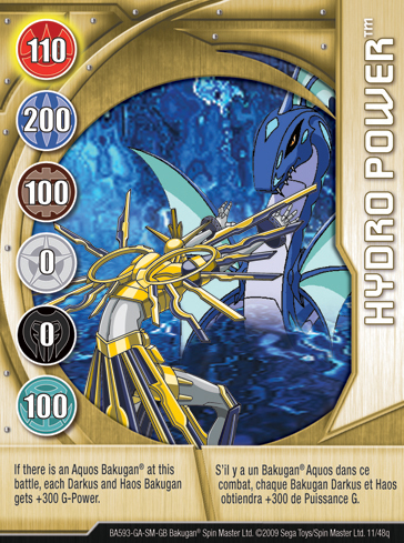 11q Hydro Power Bakugan 1 48q Card Set 1
