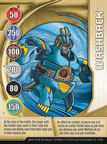 13q Washback Bakugan 1 48q Card Set 2