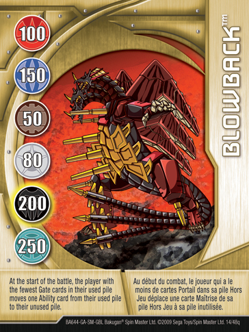 14q Blowback Bakugan 1 48q Card Set 2