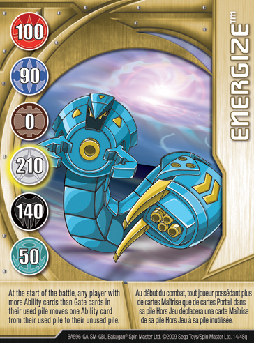 14q Energize Bakugan 1 48q Card Set 1