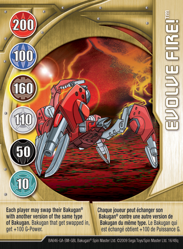 16q Evolve Fire Bakugan 1 48q Card Set 2