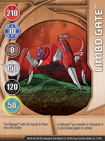 17q Limbo Gate Bakugan 1 48q Card Set 1