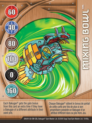 19q Mixing Bowl Bakugan 1 48q Card Set 2