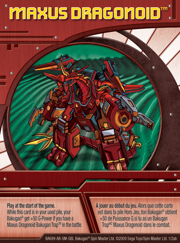 1ab Maxus Dragonoid Bakugan 1 2ab Card Set