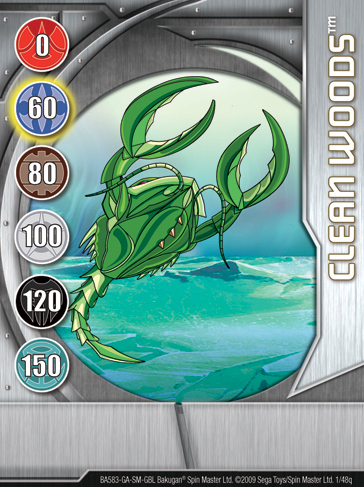 1q Clean Woods Bakugan 1 48q Card Set 1