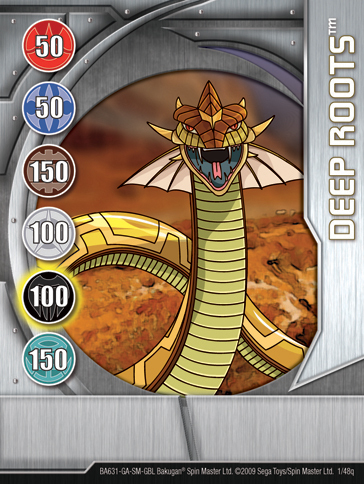 1q Deep Roots Bakugan 1 48q Card Set 2