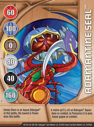 20ah Adamantine Seal Bakugan 1 48ah Card Set