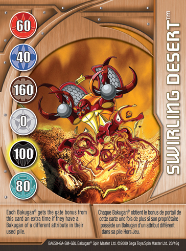 20q Swirling Desert Bakugan 1 48q Card Set 2