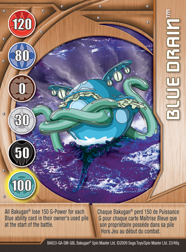 23q Blue Drain Bakugan 1 48q Card Set 2
