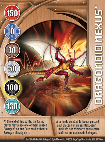 24ah Dragonoid Nexus Bakugan 1 48ah Card Set