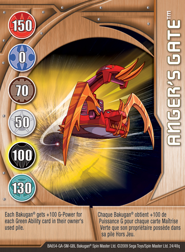 24q Angers Gate Bakugan 1 48q Card Set 2