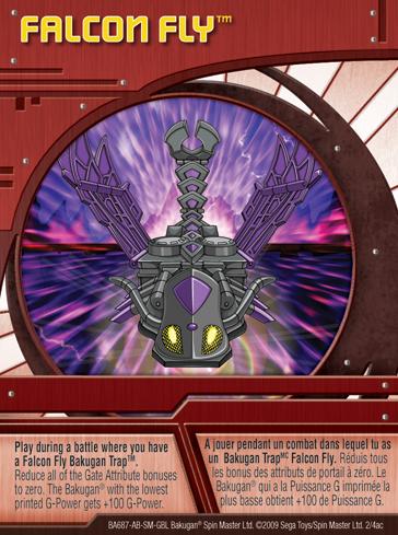 2ac Falcon Fly Bakugan 1 4ac Card Set