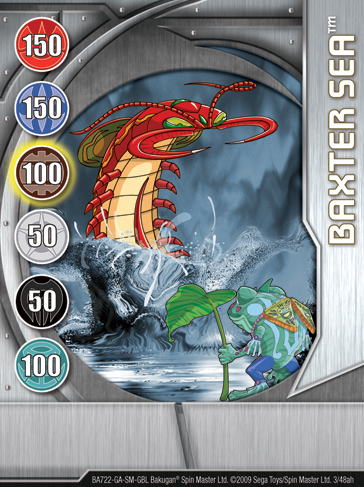 3ah Baxter Sea Bakugan 1 48ah Card Set