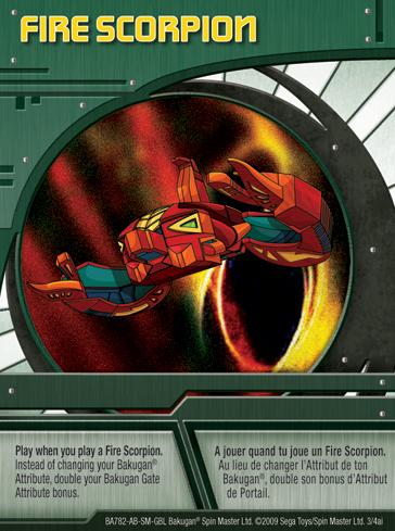 3ai Fire Scorpion Bakugan 1 4ai Card Set