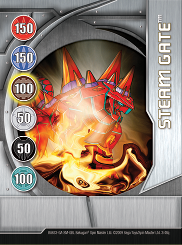 3q Steam Gate Bakugan 1 48q Card Set 2