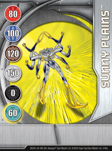 3q Sunny Plains Bakugan 1 48q Card Set 1