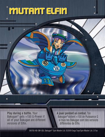 3sa Mutant Elfin Bakugan 1 7sa Card Set