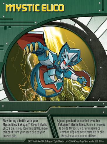 3sa Mystic Elico Bakugan 1 4sa Card Set