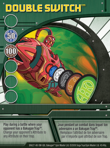 45q Double Switch Bakugan 1 48q Card Set 1