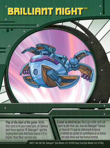 47q Brilliant Night Bakugan 1 48q Card Set 2