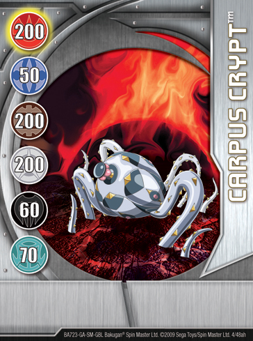 4ah Carpus Crypt Bakugan 1 48ah Card Set