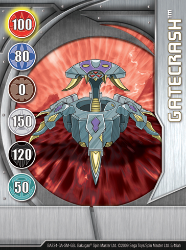 5ah Gatecrash Bakugan 1 48ah Card Set